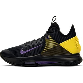 Nike Lebron Witness IV Basketballschuhe Herren black-voltage purple-opti yellow-white