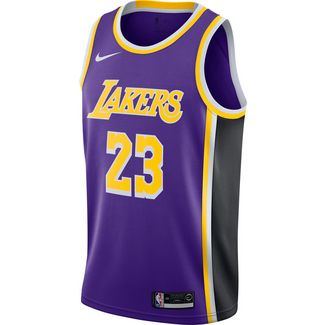 Nike LeBron James Los Angeles Lakers Basketballtrikot Herren field purple-black-amarillo