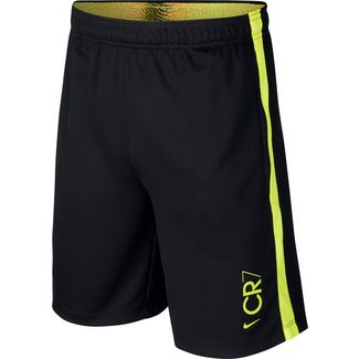 Nike CR7 Fußballshorts Kinder black-lemon venom