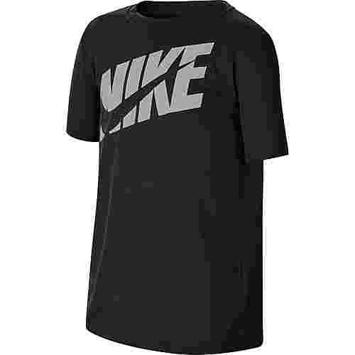 Nike Funktionsshirt Kinder black-lt smoke grey