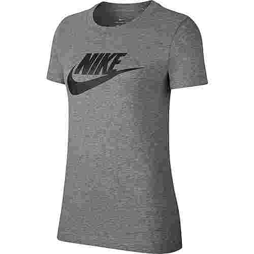 Nike NSW Icon Futura T-Shirt Damen dark grey heather-black