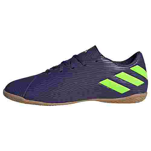 adidas Nemeziz Messi 19.4 IN Fußballschuh Fußballschuhe Herren Tech Indigo / Signal Green / Glory Purple