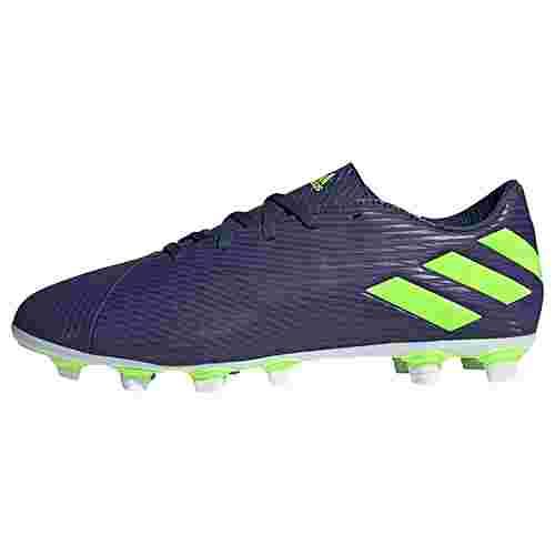 adidas Nemeziz Messi 19.4 FxG Fußballschuh Fußballschuhe Herren Tech Indigo / Signal Green / Glory Purple
