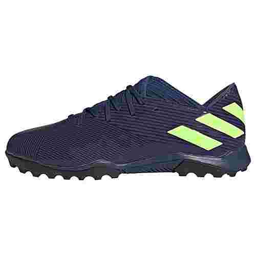 adidas Nemeziz Messi 19.3 TF Fußballschuh Fußballschuhe Herren Tech Indigo / Signal Green / Glory Purple