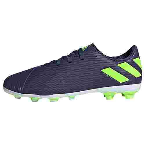 adidas Nemeziz Messi 19.4 FxG Fußballschuh Fußballschuhe Kinder Tech Indigo / Signal Green / Glory Purple