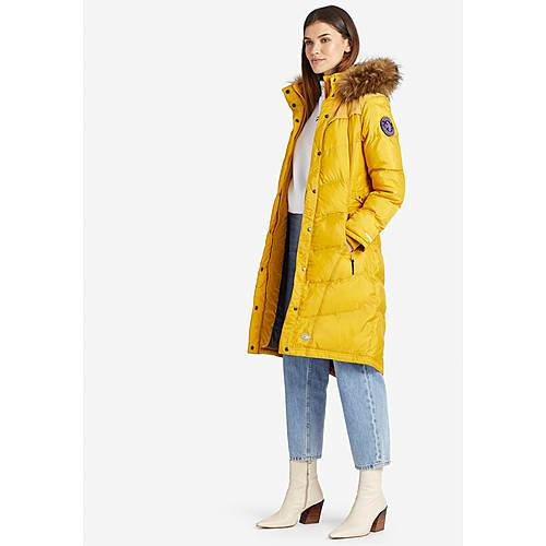 Khujo LUBECK LONG3 Steppmantel Damen gelb im Online Shop von SportScheck kaufen