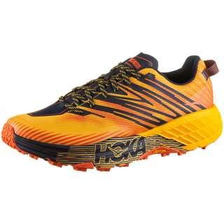 Hoka One One SPEEDGOAT 4 Trailrunning Schuhe Herren gold fusion black iris
