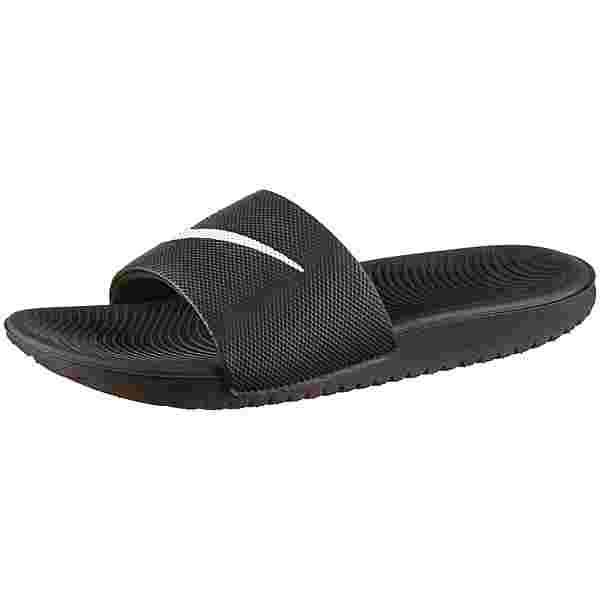 Nike Kawa Badelatschen Kinder black-white
