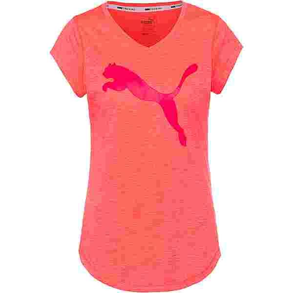 PUMA Heather Cat Funktionsshirt Damen ignite pink heather
