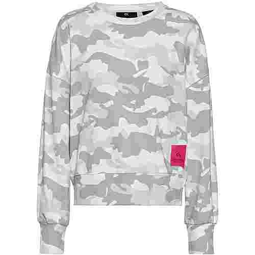 Calvin Klein Camo Story Sweatshirt Damen bright white