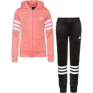 adidas YG HOOD PES TS Trainingsanzug Kinder glory pink