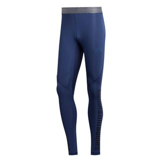 adidas Alphaskin Graphic lange Tight Tights Herren Blau