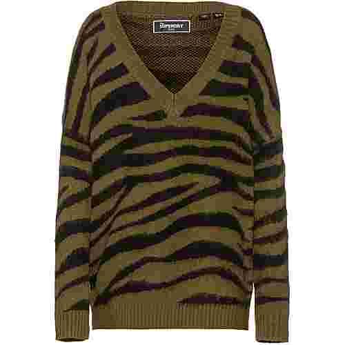 Superdry EDIT V-Pullover Damen army khaki
