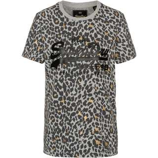 Superdry V LOGO ANIMAL T-Shirt Damen grey marl