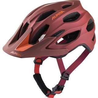 ALPINA CARAPAX 2.0 Fahrradhelm indigo-cherry drop