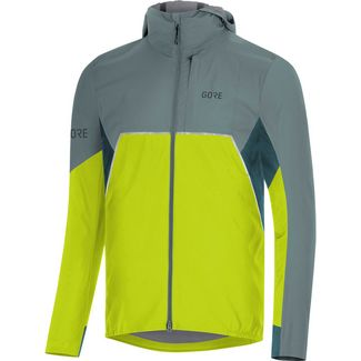 GORE® WEAR GORE-TEX® R7 Partial Laufjacke Herren citrus green-nordic blue