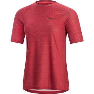 GORE® WEAR GORE® M Damen Line Brand Shirt Funktionsshirt Damen hibiscus pink
