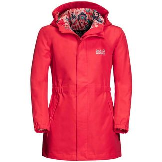Jack Wolfskin Hidden Falls Softshelljacke Kinder tulip red