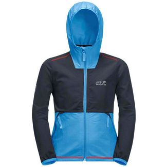 Jack Wolfskin Turbulence Softshelljacke Kinder night blue