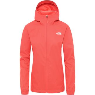 The North Face Quest Wanderjacke Damen cayenne red black heather