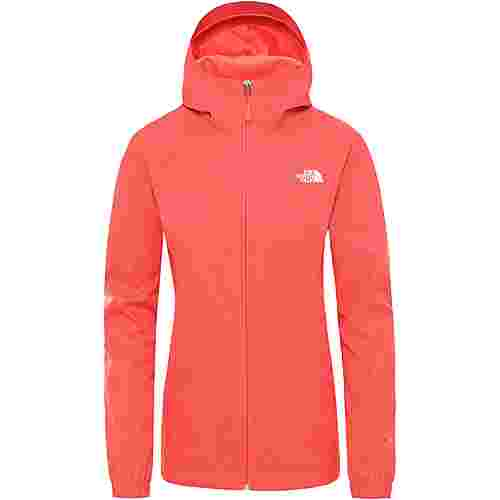 The North Face Quest Regenjacke Damen cayenne red black heather
