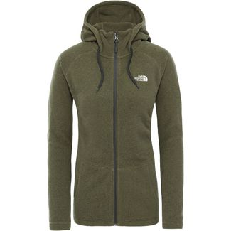 The North Face Mezzaluna Fleecejacke Damen burnt olive green stripe/tnf white