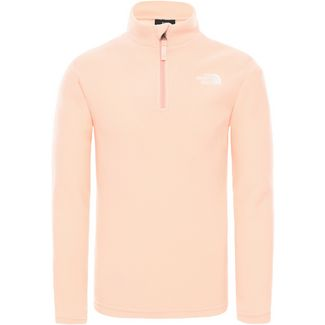 The North Face Youth Glacier 1/4 Zip (Recycled) Fleecehoodie Kinder impatiens pink