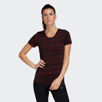 adidas T-Shirt Damen Black / Glory Red