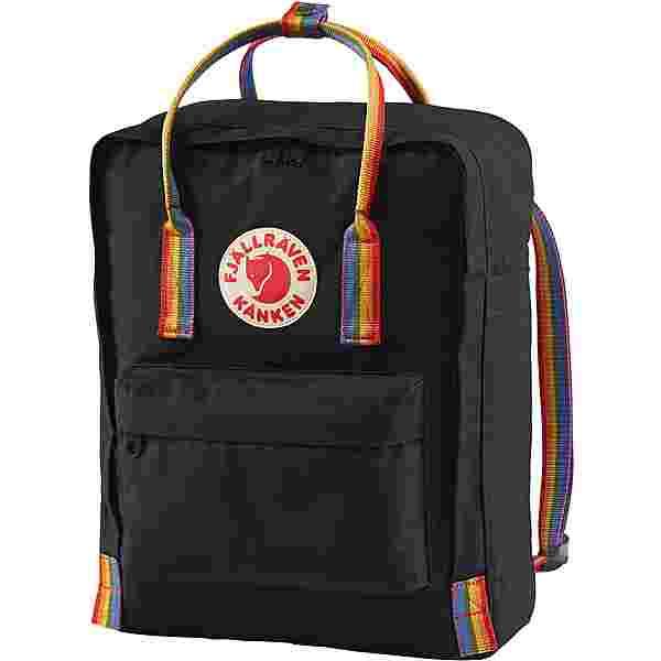FJÄLLRÄVEN Rucksack Kånken Rainbow Daypack Black-Rainbow Pattern