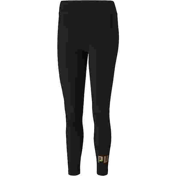 PUMA Essential Leggings Damen puma black-gold