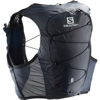 Salomon ACTIVE SKIN 8 SET-Ebony-Black- Trinkrucksack ebony-black