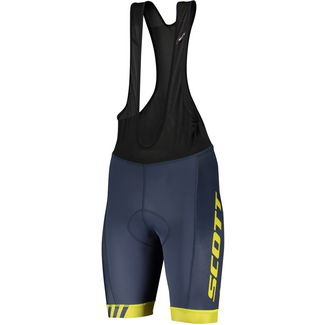 SCOTT RC Team Bibshorts Bibtights Herren nightfall blue/lemongrass yellow