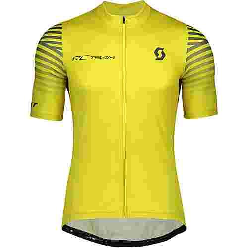 SCOTT RC Team 10 s/sl Fahrradtrikot Herren lemongrass yellow/nightfall blue