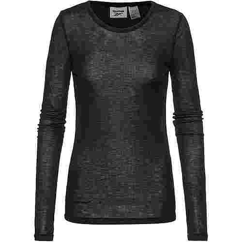 Reebok Yoga Langarmshirt Damen black