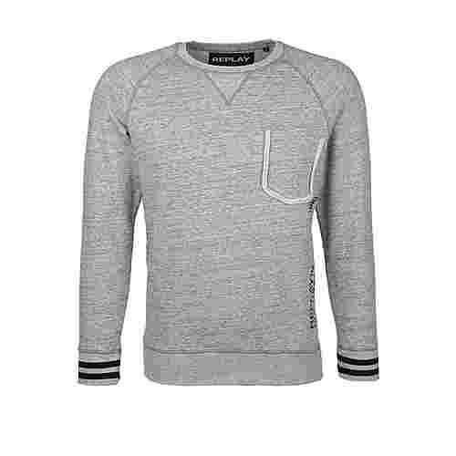 REPLAY im Casual-Look Sweatshirt Herren grey melange