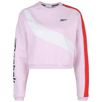 Reebok Workout Ready Meet You There Sweatshirt Damen rosa / weiß