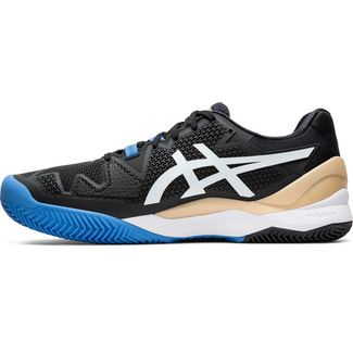 ASICS GEL-RESOLUTION 8 CLAY Tennisschuhe Herren black-white
