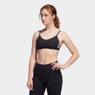 adidas All Me 3-Streifen Sport-BH Sport-BH Damen Black / White