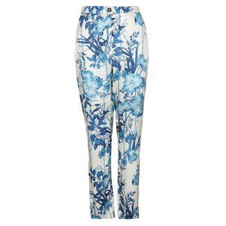 REPLAY mit floralem Muster Chinohose Damen Beige/blau