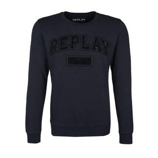 REPLAY mit gesticktem Logo Sweatshirt Herren dunkelblau