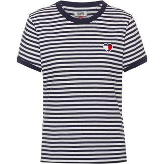Tommy Jeans T-Shirt Damen classic white-black iris