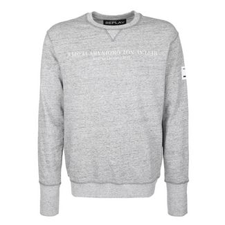 REPLAY mit melierter Optik Sweatshirt Herren grey melange
