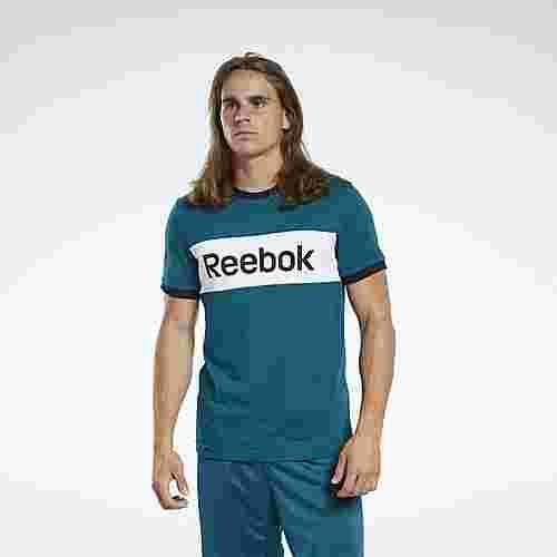 Reebok Training Essentials Linear Logo T-Shirt Funktionsshirt Herren Türkis
