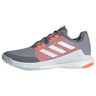 adidas Crazyflight Schuh Fitnessschuhe Herren Grey Three / Cloud White / Signal Coral