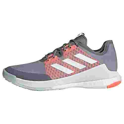 adidas Crazyflight Schuh Fitnessschuhe Herren Grey Three / Cloud White / Signal Coral