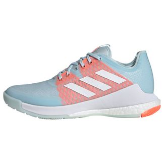 adidas Crazyflight Schuh Fitnessschuhe Damen Sky Tint / Cloud White / Signal Coral