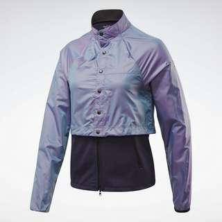 Reebok One Series Running Night Run Jacket Trainingsjacke Damen Lila