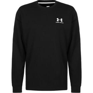 Under Armour Sportstyle Terry Logo Crew Sweatshirt Herren schwarz