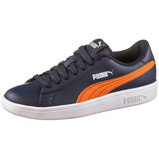 PUMA Smash Sneaker Kinder peacoat-firecracker-puma white