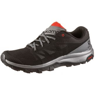 Salomon Outline Wanderschuhe Herren black-quiet shade-high risk red